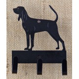 BLACK & TAN COONHOUND KEY/LEASH HOLDER