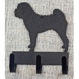 SHAR PEI KEY/LEASH HOLDER
