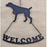 GERMAN SHORTHAIR POINTING WELCOME SIGN