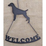 GERMAN SHORTHAIR POINTER WELCOME SIGN