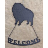 KEESHOND WELCOME SIGN