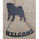 PUG WELCOME SIGN