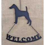 SMOOTH FOX TERRIER WELCOME SIGN