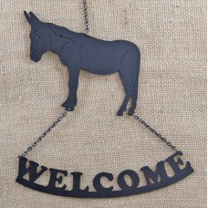 DONKEY WELCOME SIGN