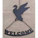 DUCK  FLYING WELCOME SIGN