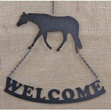 QUARTER HORSE WELCOME SIGN