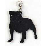 STAFFORDSHIRE BULL TERRIER ZIPPER PULL